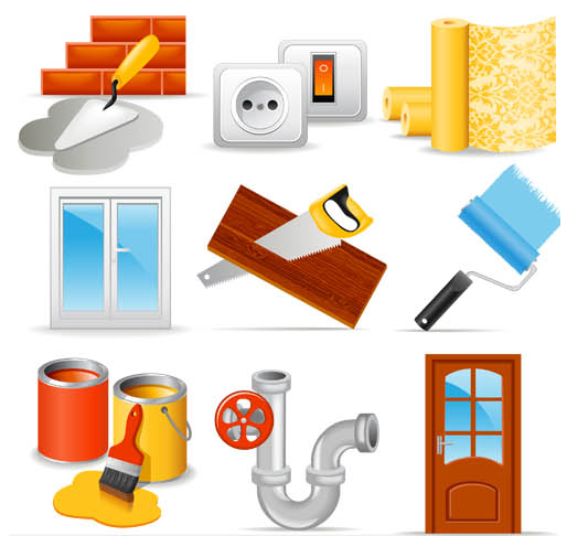 Home Repairs Icons vector