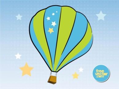 Hot Air Balloon Illustration vector
