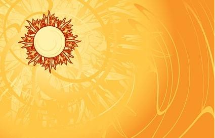 Hot sun background vector graphics