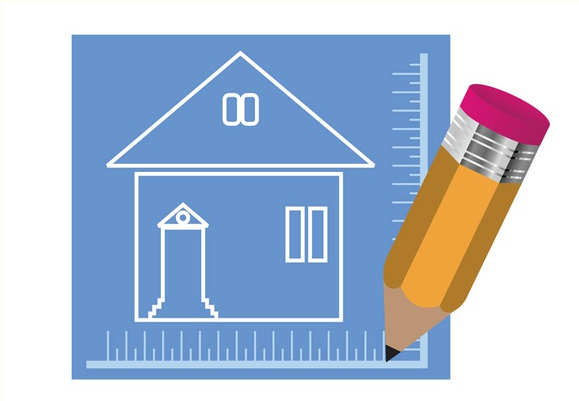 House Blueprint And Pencil art vector