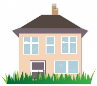 House illustration Free vectors material