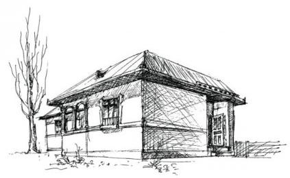 House sketch 1 vector
