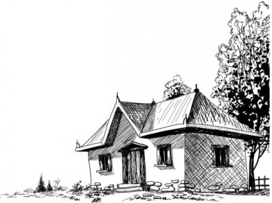 House sketch 4 vectors