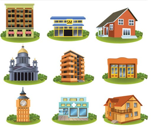 Houses free vector