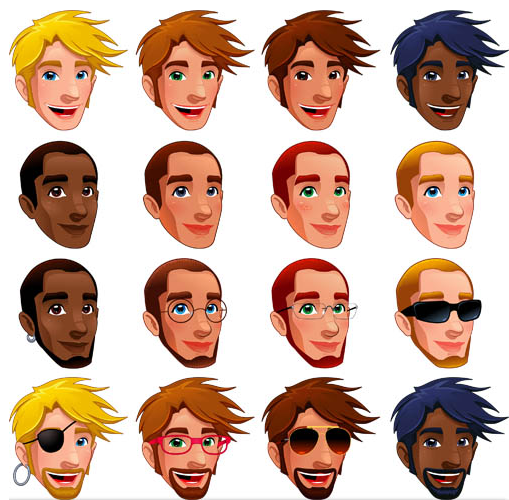 Human Faces Icons vector
