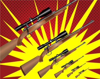 Hunting Rifle Graphics background vector