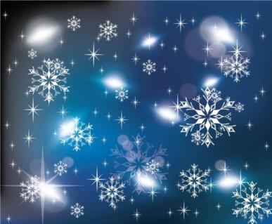 Ice Crystals background vectors graphics