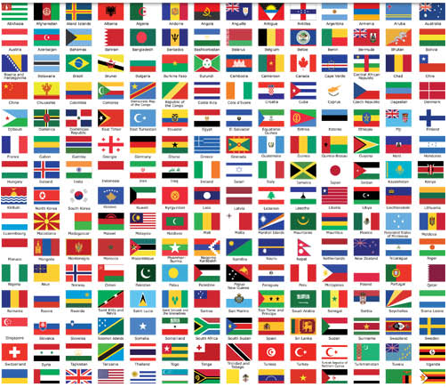 Icons with Flags Set vector