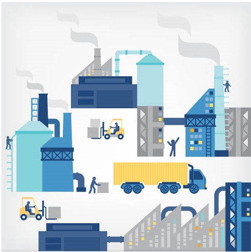 Industrial Backgrounds vector