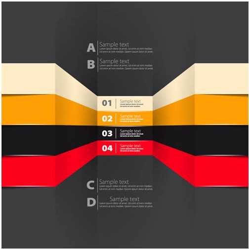 Infographic Backgrounds vector