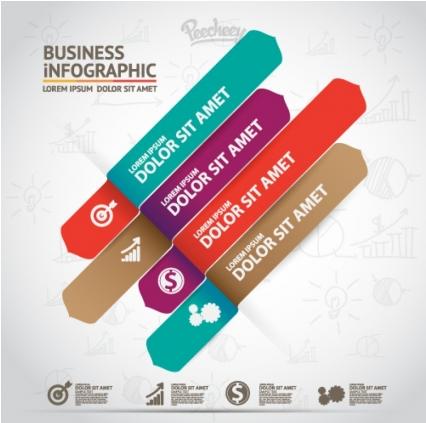 Infographic design Free vector