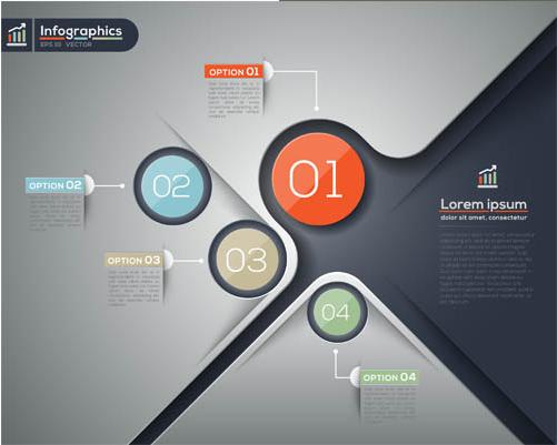 Infographics Backgrounds 27 vector