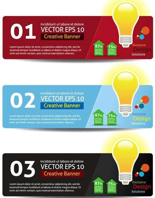 Infographics Banners vectors