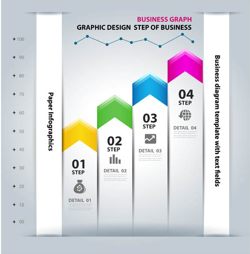 Infographics Diagrams Backgrounds 4 vector graphics