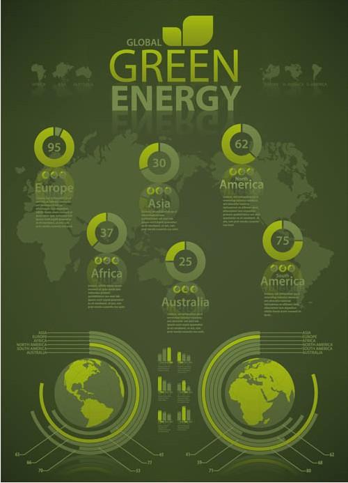 Infographics Eco Elements art design vectors