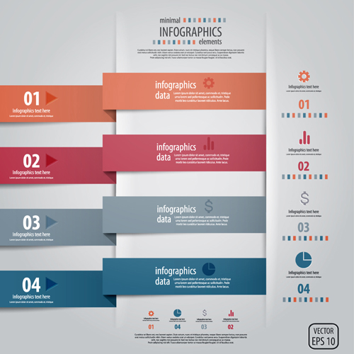 Infographics background 41 vector
