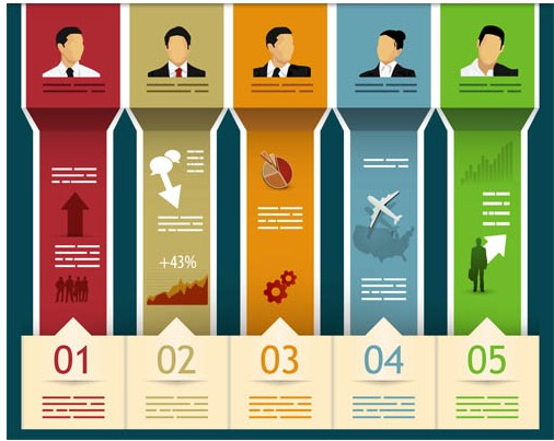 Infographics with People art vector