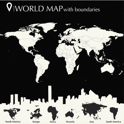 Infographics with World Map 3 shiny vector