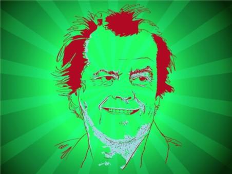 Jack Nicholson vector design