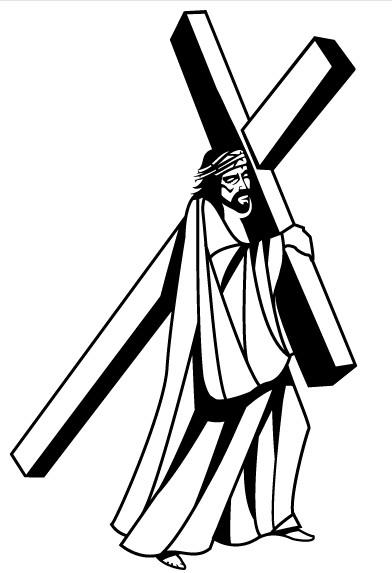 Jesus Christ Carrying Cross Image vector