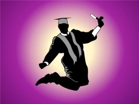 Jumping Graduate shiny vector