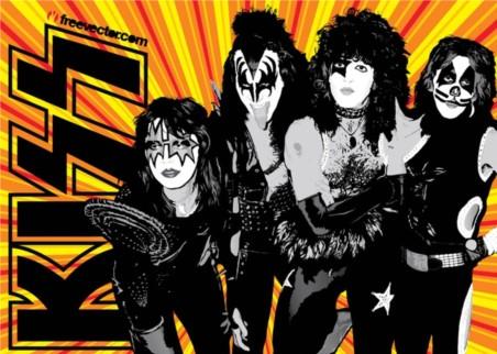 KISS Band vector