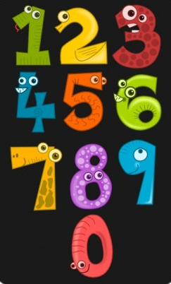 Kablam Number Animals clip art vectors