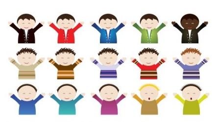 Kid Boy graphic vector illustration