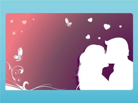 Kissing Couple Graphics vector