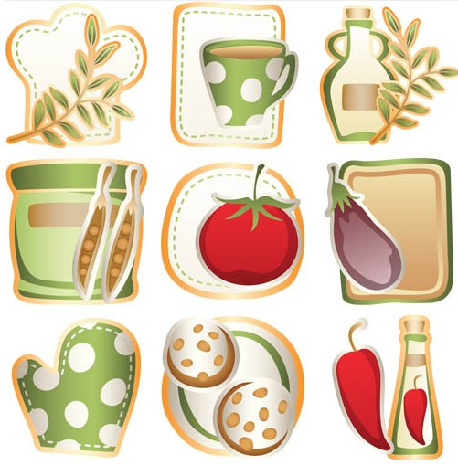 Kitchen Elements vector material