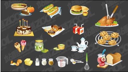 Kitchen utensils food icon vector