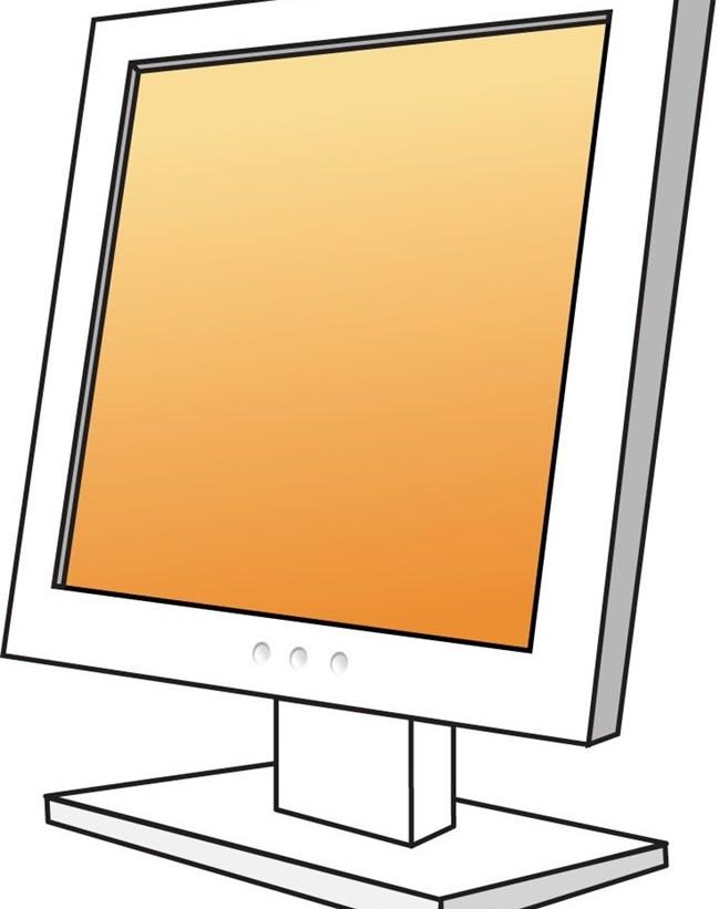 LCD computer design vectors