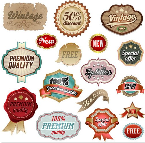 Labels free vector