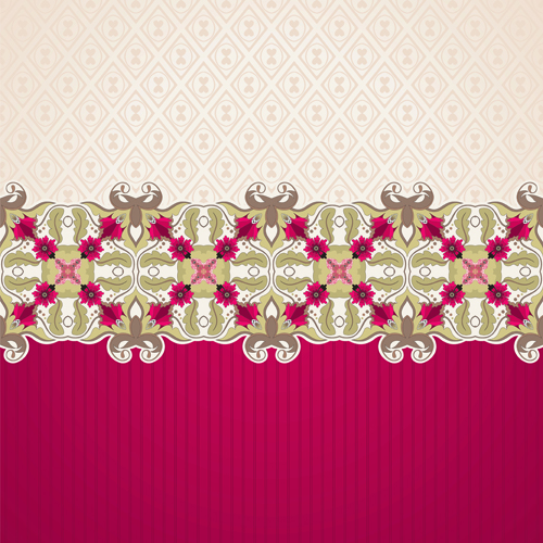 Lace floral background 2 vector