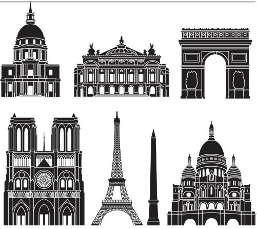 Landmarks Set vector graphic