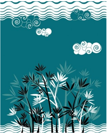 Landscape silhouette vector