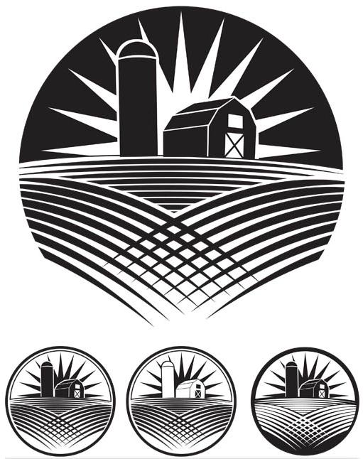 Landscapes Logo Mix 2 shiny vector
