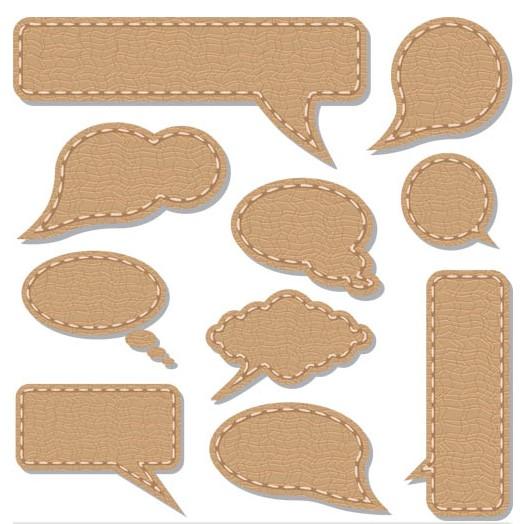 Leather Speech Bubbles art vector