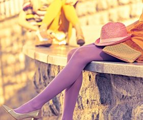 Legs with trendy shoes Stock Photo 02