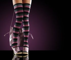 Legs with trendy shoes Stock Photo 06