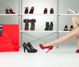 Legs with trendy shoes Stock Photo 10