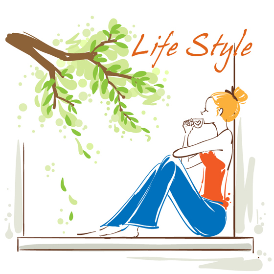 Life style 2 vector graphic