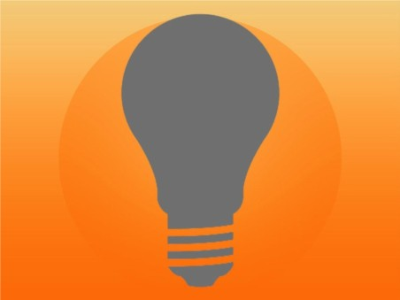 Light Bulb Icon creative vector