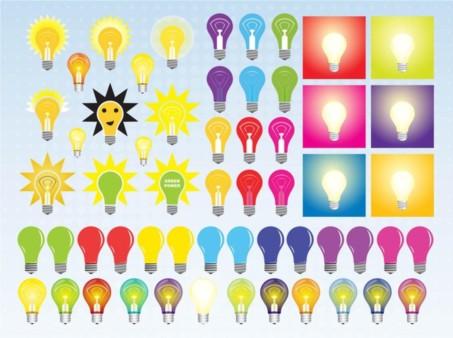Light Bulb Vectors design material