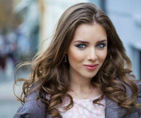 Light make-up woman Stock Photo