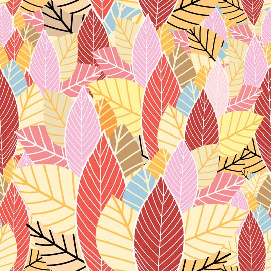 Line autumn pattern background 1 vectors
