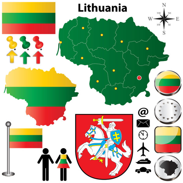 Lithuanielements design vectors