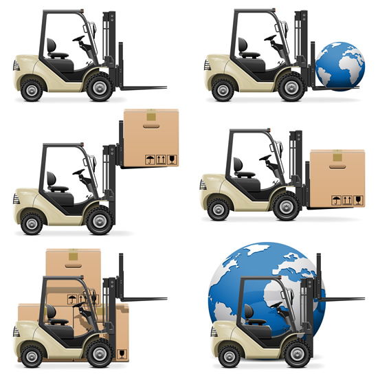 Logistics and transport icons 4 vector