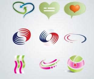 Logo Elements Set vector
