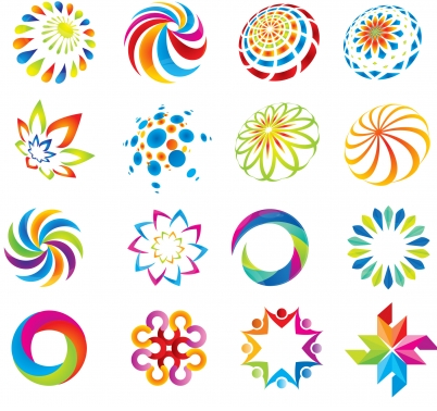 Logo design element abstract collection Free vector